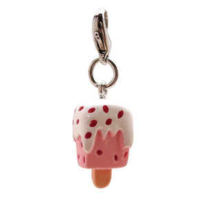 Poly 3-D Strawberry Popsicle Charm