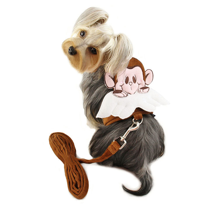 Monkey Angel Harness with Matching Leash