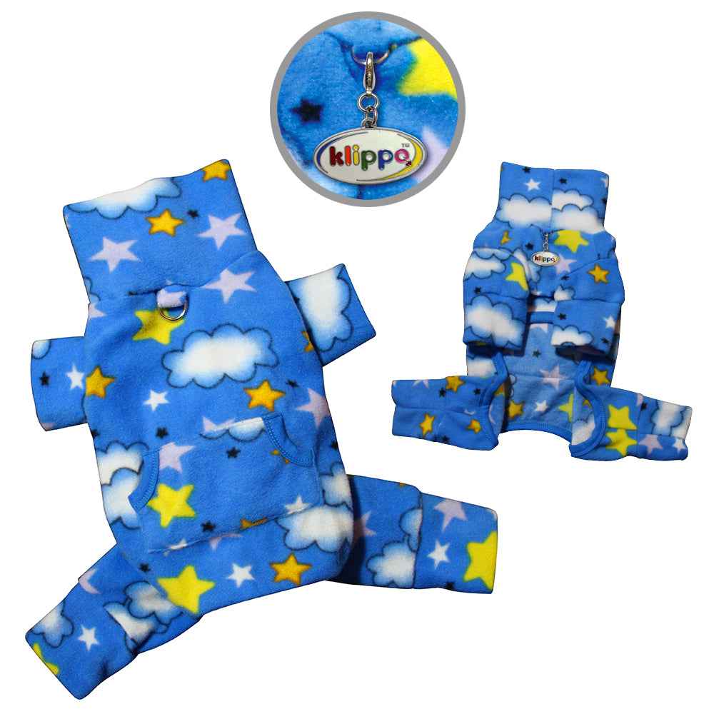 Stars and Clouds Fleece Turtleneck Pajamas
