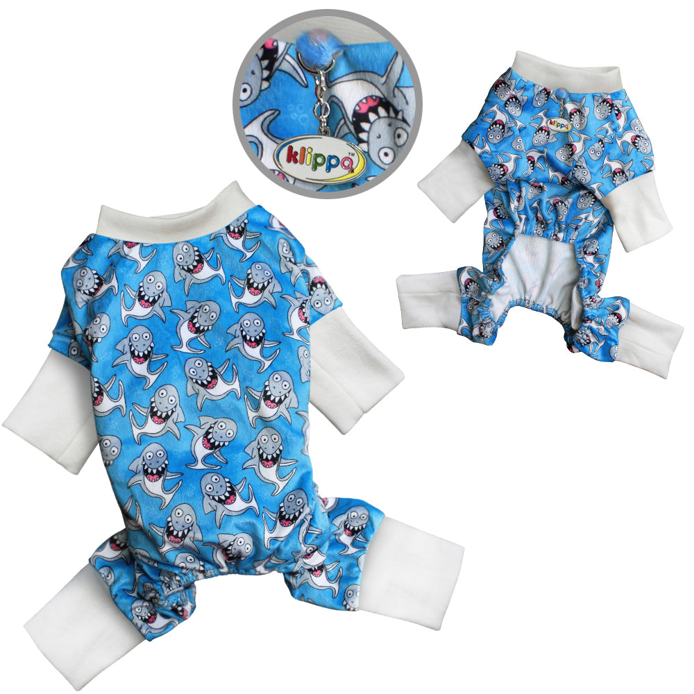 Ultra Soft Minky Silly Shark Pajamas