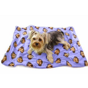 Silly Monkey Fleece/Ultra-Plush Blanket - Lavender