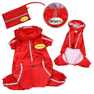 Raincoat Bodysuit with Reflective Stripes & Matching Pouch