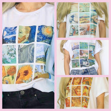 Load image into Gallery viewer, You are a MASTERPIECE T-Shirts (Van Gogh, Monet, Mucha & Hokusai Designs)