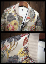 Load image into Gallery viewer, Embroidered Crane Bomber Jacket