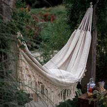 Load image into Gallery viewer, Twice-as-Nice Two Person Macrame Hammock