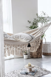 Twice-as-Nice Two Person Macrame Hammock