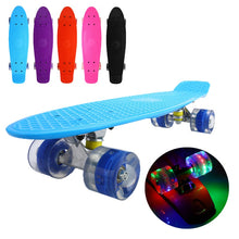 "Load image into Gallery viewer, Classic 22"" Mini Cruiser Skateboard with Glowing Wheels"
