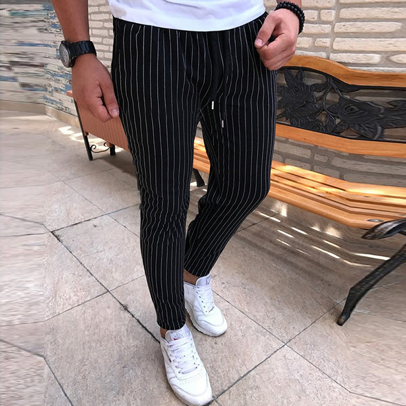 Pinstriped Softball Joggers
