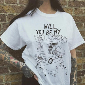 Will You Be My Hellfriend T-Shirt
