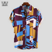 Load image into Gallery viewer, Geometric Print Button Up
