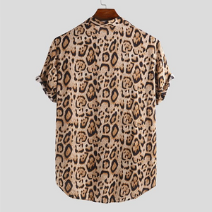 Leopard Print Button Up Shirt