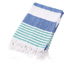 Blue. green and white Turkish Towel