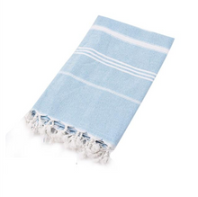 Load image into Gallery viewer, Blue Turkish Towel