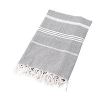 Load image into Gallery viewer, Grey/Gray Turkish Towel
