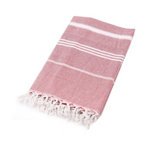 Load image into Gallery viewer, Red Turkish Towel