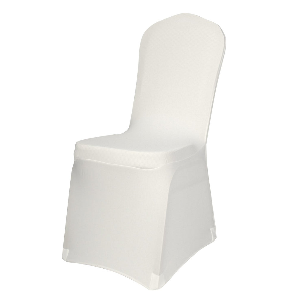 Polyester Spandex Ivory Chair Covers Elegant Dining Chair Cover Slipc Adpey