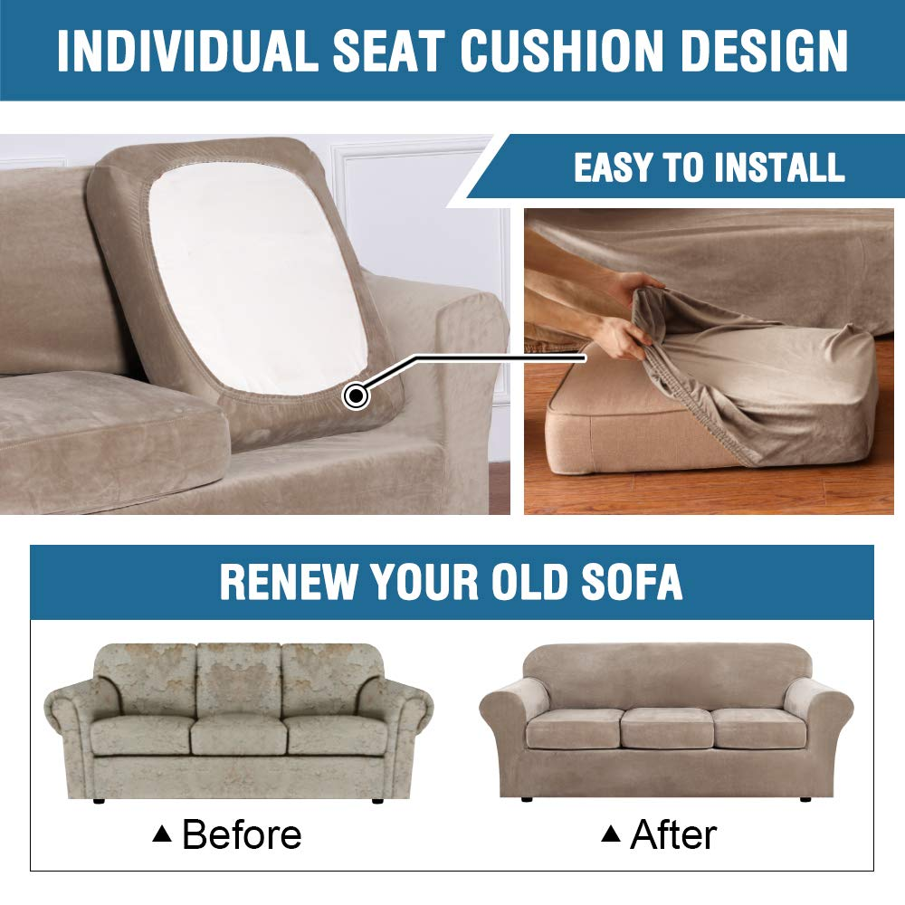 Stretch Soft Couch Seat Cushion Cover Sofa Loveseat Slipcover Furniture Protect