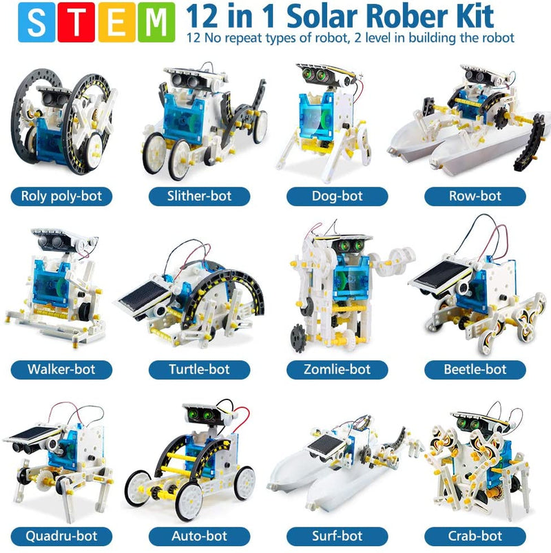 9 12 Year Old Boys // Girls with Solar Power 10 10 9 11 13 Year Old Boys 3 in 1 Solar Robotic Kits for Kids 10-12 12 Stem Toys for 8 Science Kits for Kids DIY Building Toys Gifts for 8