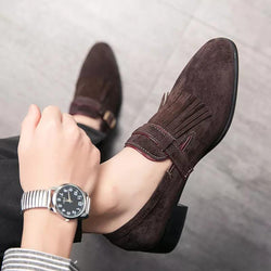 Men business formal low heels shoes