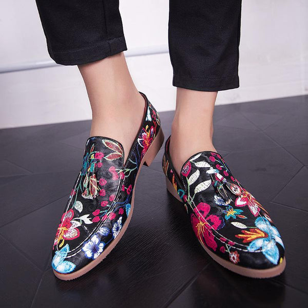 Fringed Casual Print Slip on Shoes