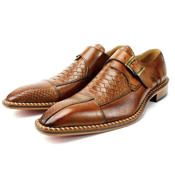 Crocodile Pattern Luxury Dress Shoes