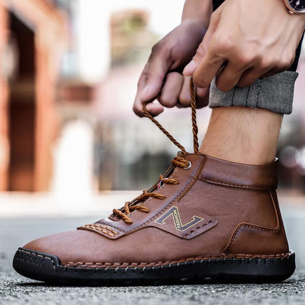 Men Handmade Breathable Lightweight Casual Shoes