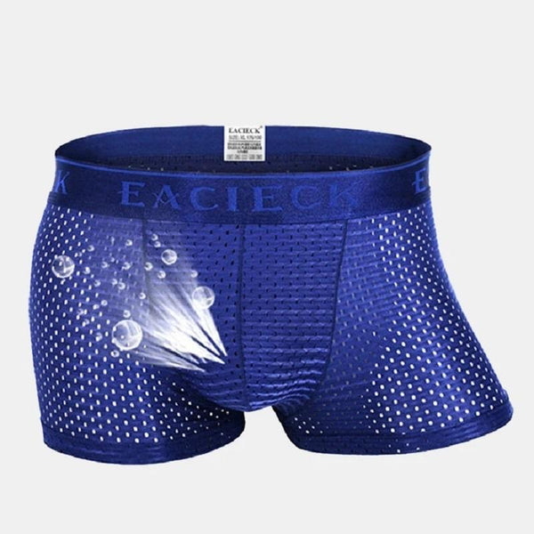 Mesh Breathable Casual Ice Silk Thin Solid Color Boxers