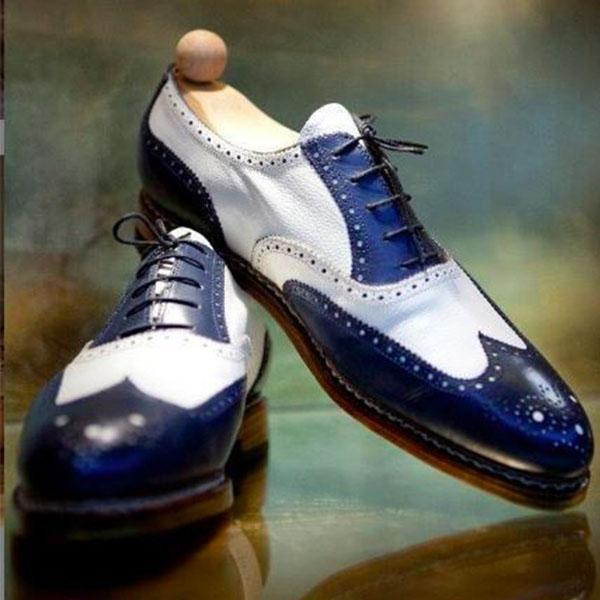Clearance Vintage Handmade Patchwork Brogue Formal Shoes