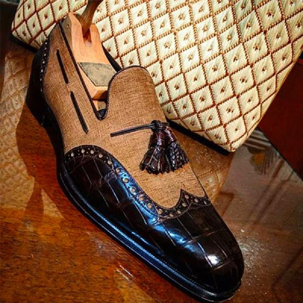 Clearance New Trend Brogue Tassel Loafers