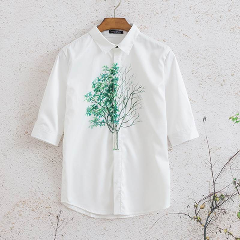 Hawaiian Harajuku Printed Casual Half-sleeved Shirt