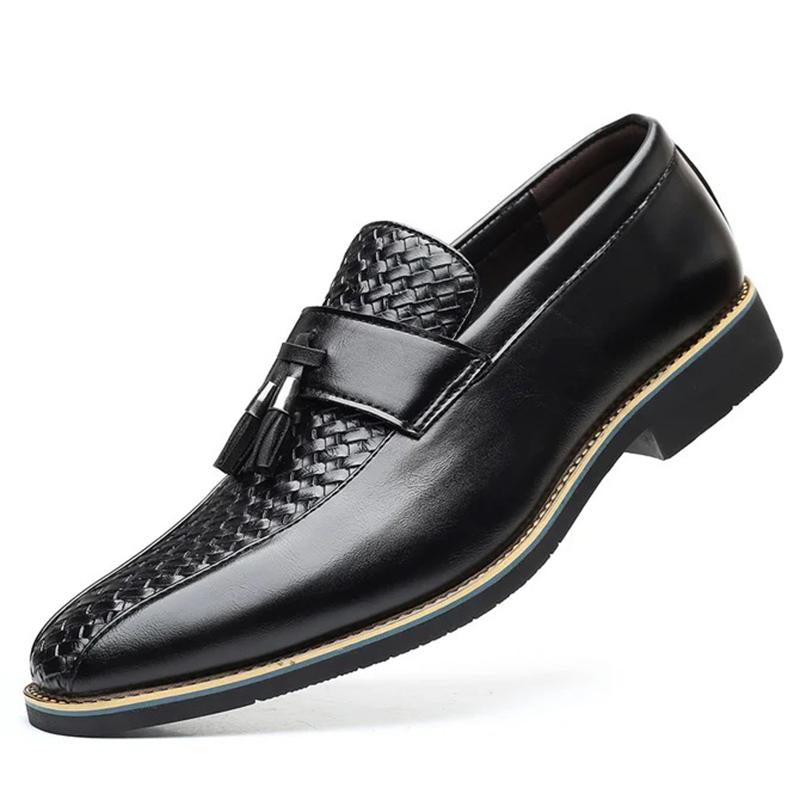 Large Size Men Tassel Pointed Toe Business Dress Shoes