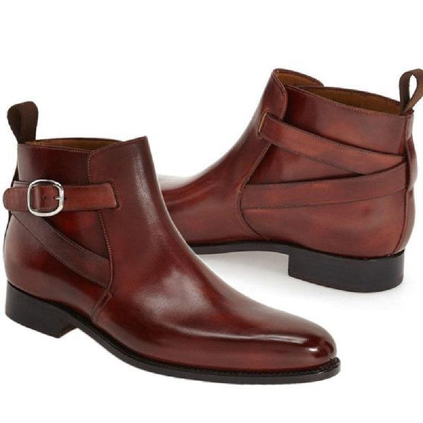 Clearance Men's Ankle High Leather Boot