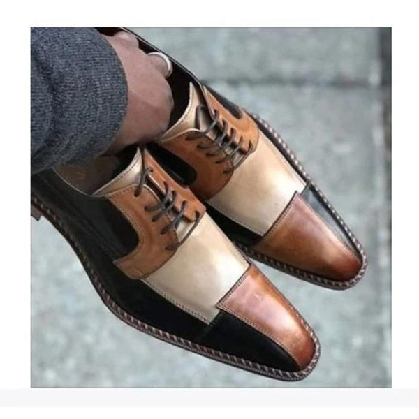 Clearance Men's Leather Patchwork Dress Shoes