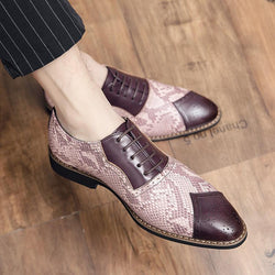 Business Formal Leather Shoes Fashion Large Size Stitching Men's Shoes