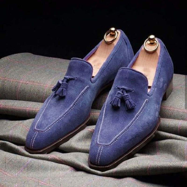 Suede Tassel Slip-On Men's Shoes