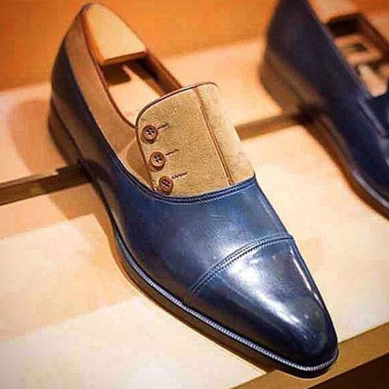 Clearance Men's Handmade Leather Oxfords Shoes
