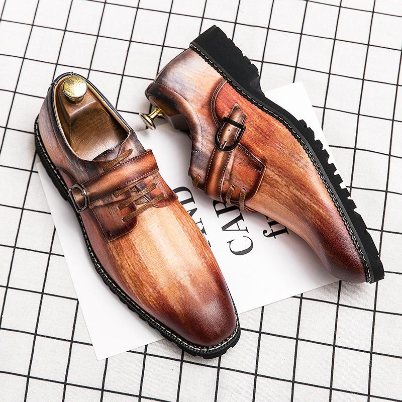 Men's Breathable Pointed Toe Casual Leather Shoes