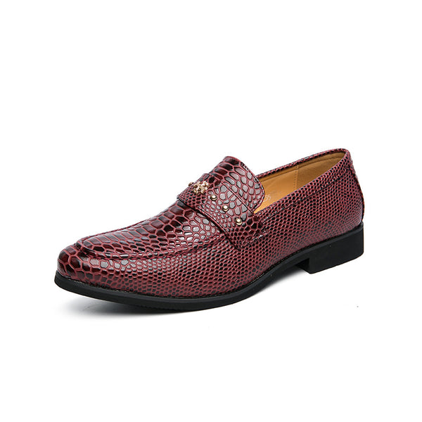 Crocodile Skin Pattern Slip on Loafers