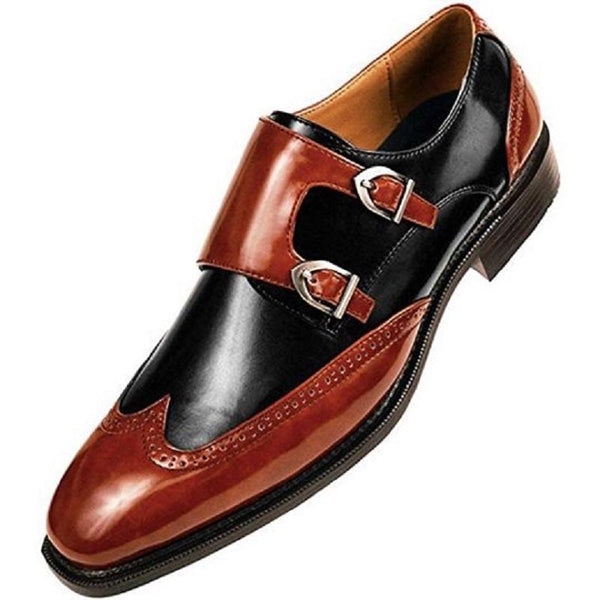 Clearance Men's Leather Buckle Dress Shoes
