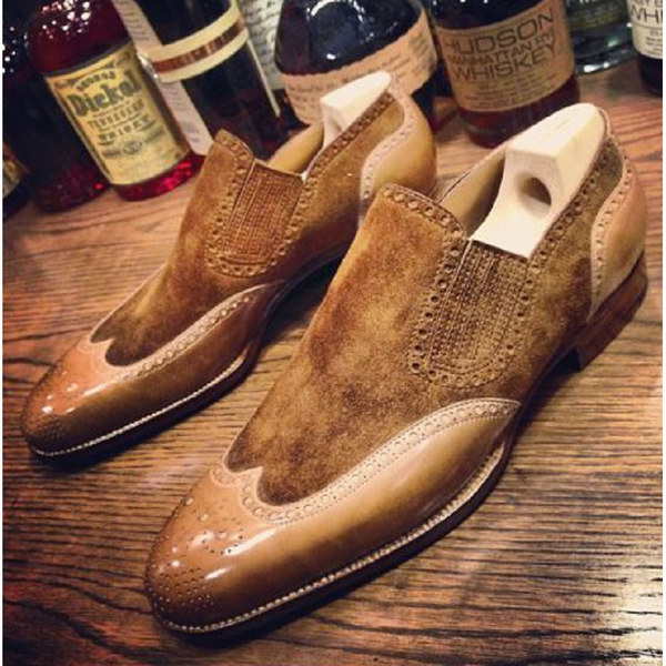 Vintage Classic Stitching Leather Shoes