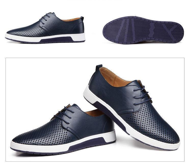 Men's Daily Breathable Lace-up Casual Shoes
