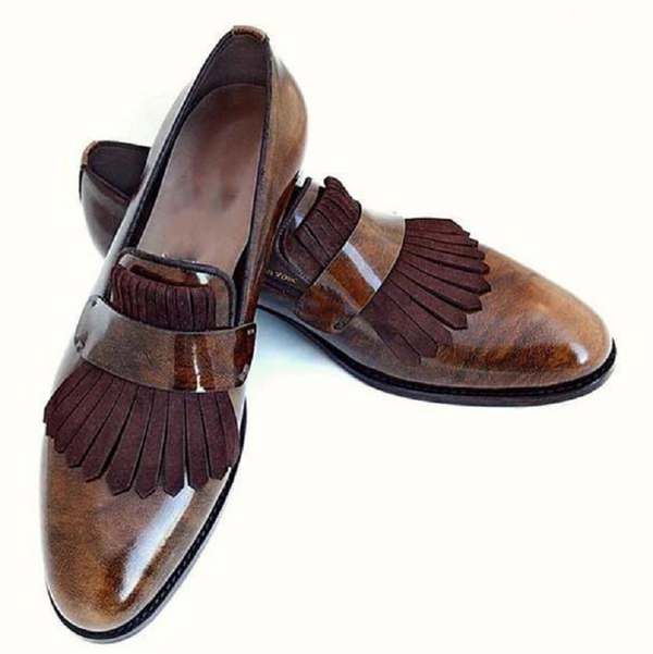 Vintage Classic Brock PU Leather Shoes