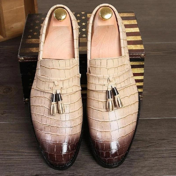 Pointed Toe Italian Style Formal Leather Shoes