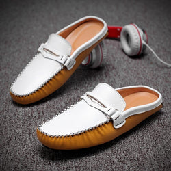 Fashionable Comfortable Casual Leather Slippers