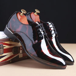 Fashion Tide Shoes Korean Version of Glossy Paint Shoes