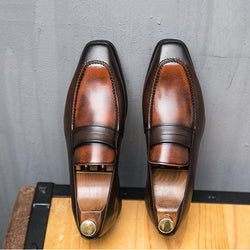 Large Size Casual Business Leather Loafers
