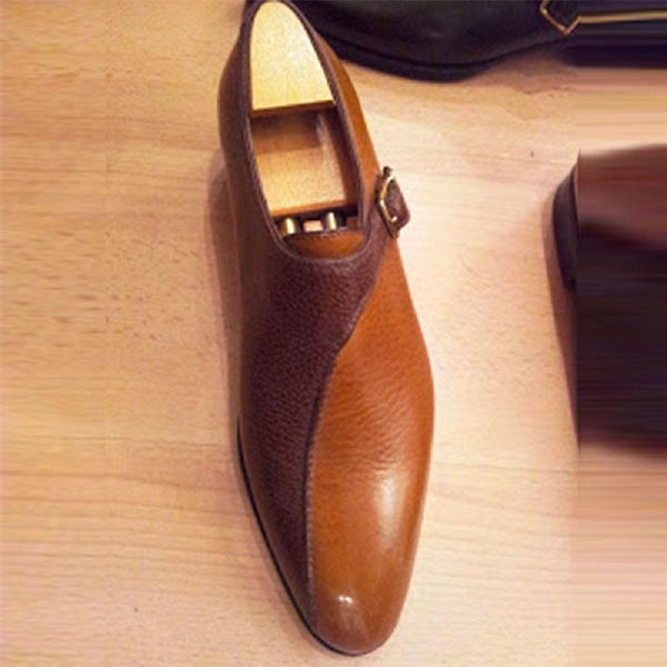 Clearance Trendy Colorblock Leather Shoes