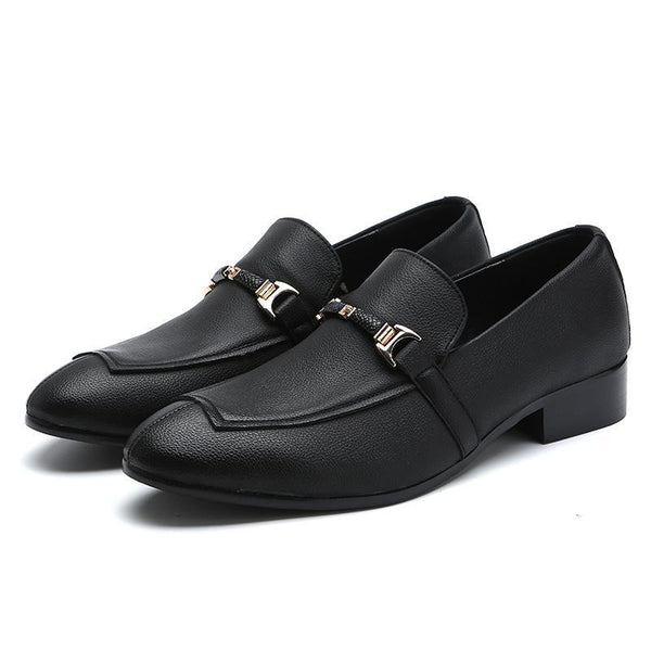Men's Hit Color Slip on Patchwork Shoes