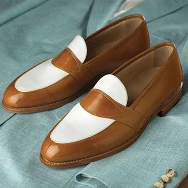 Patchwork Colorblock Slip on Casual loafers
