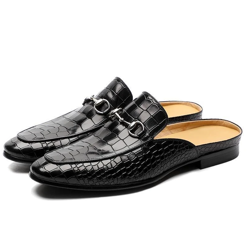 Classic PU Leather Casual Slippers